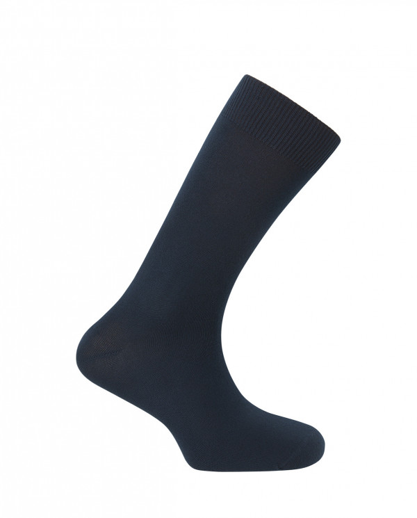 "Modal sock - plain ""Special winter"" Color Marine - 1"