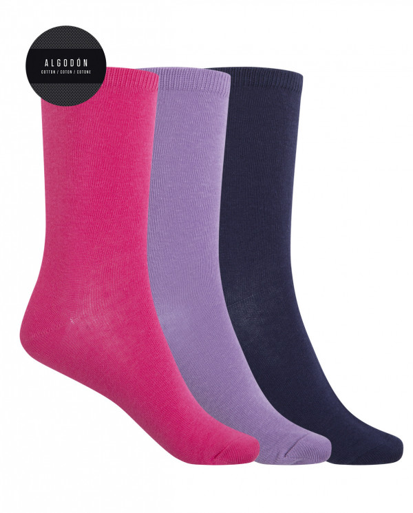 Pack de 3 calcetines de algodón -...