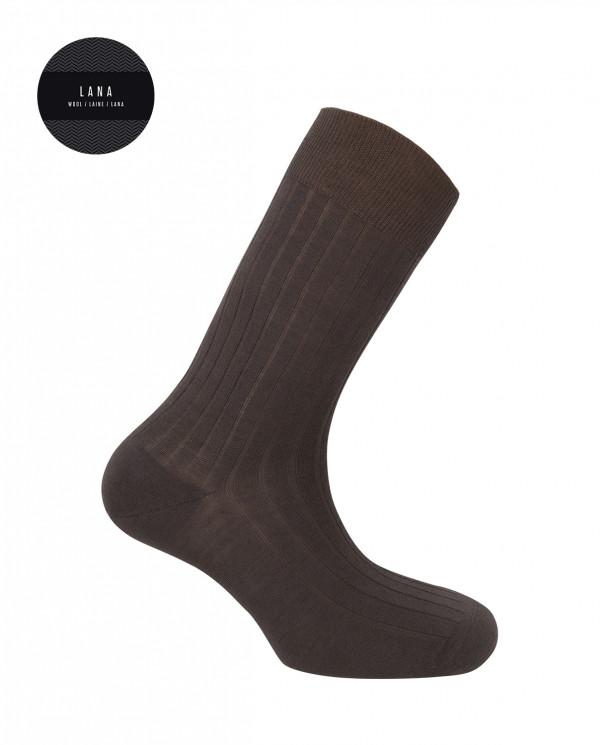 Wool sock - ribbed