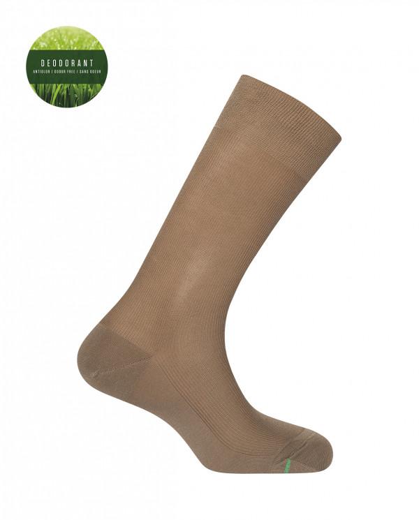 """Calcetines de Hilo de Escocia - canalé """"Deodorant"""" Color MarrÓn - 1"""
