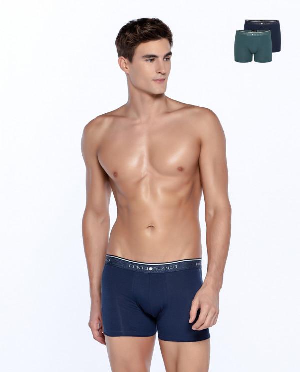 Lot de 2 boxers en coton bio, Fractals Couleur Assorti - 1