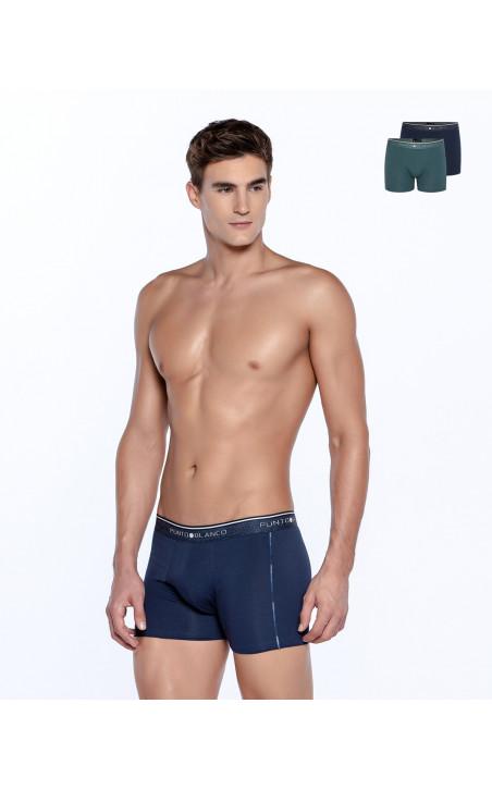 Lot de 2 boxers en coton bio, Fractals Couleur Assorti - 1 - 2