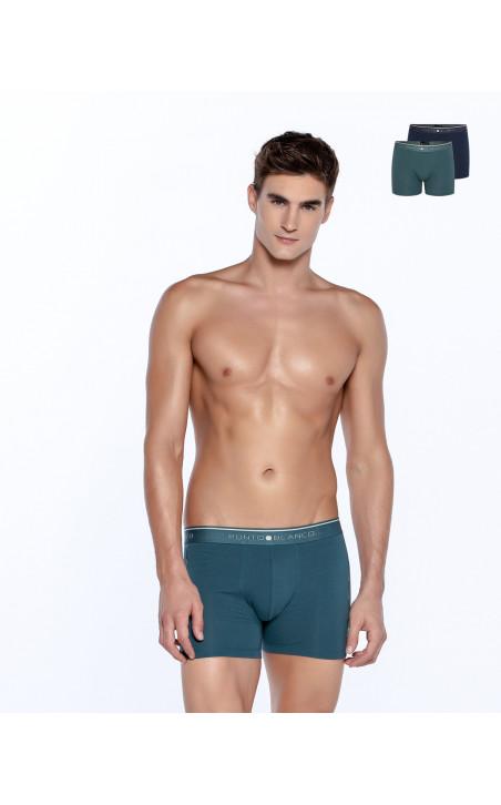 Lot de 2 boxers en coton bio, Fractals Couleur Assorti - 1 - 2 - 3 - 4