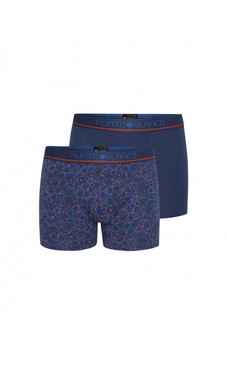 Pack of 2 organic cotton boxers, Sequence Color Blue - 1 - 2 - 3 - 4 - 5 - 6 - 7