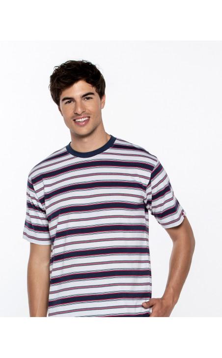 Short striped set, Equinox Color Navy - 1 - 2