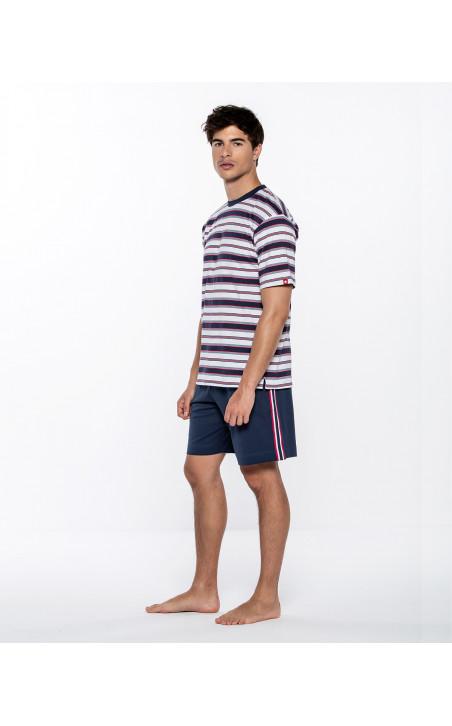 Short striped set, Equinox Color Navy - 1 - 2 - 3