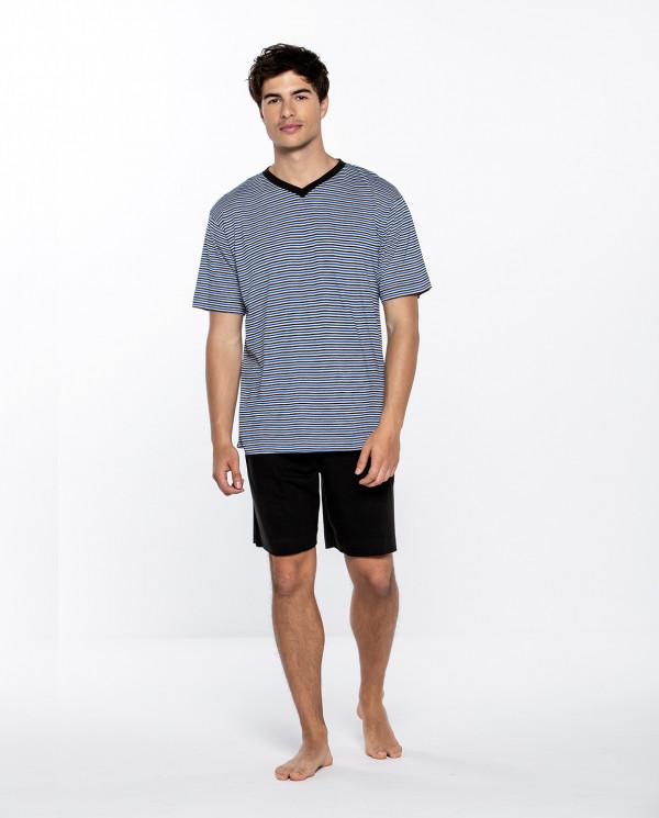 Short modal and cotton set, Ensemble Color Blue - 1