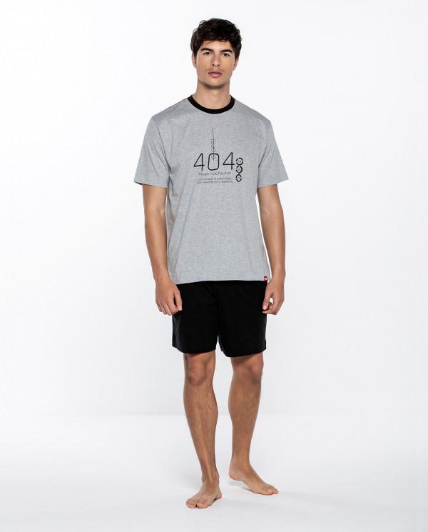 Short cotton set, Enigma Color Light gray - 1
