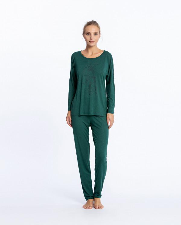 Conjunto largo de modal, Fleur Color Verde - 1