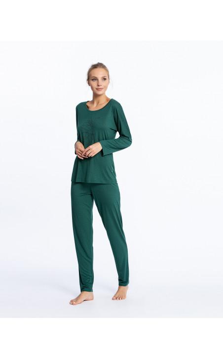 Long modal set, Fleur Color Green - 1 - 2