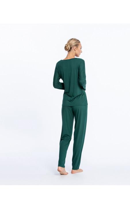 Conjunto largo de modal, Fleur Color Verde - 1 - 2 - 3