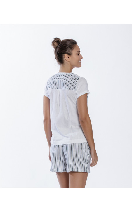 Short cotton set, Beach Color White - 1 - 2 - 3