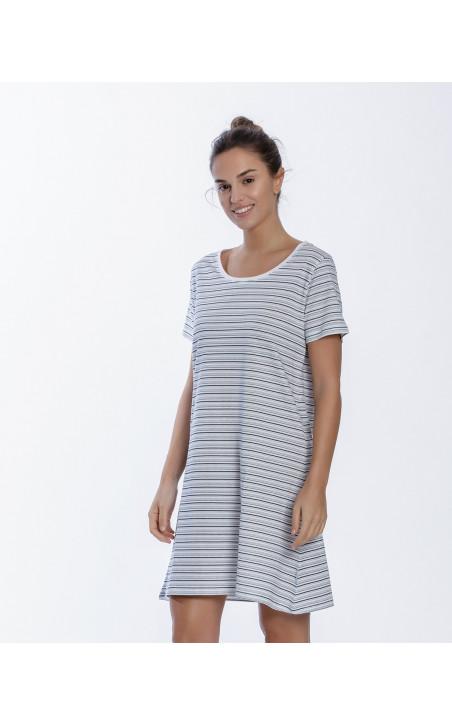 Chemise de nuit en coton, Beach Couleur Blanc - 1 - 2