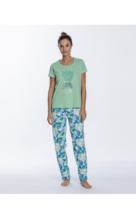 Conjunto de algodón, Tropical Color Verde - 1