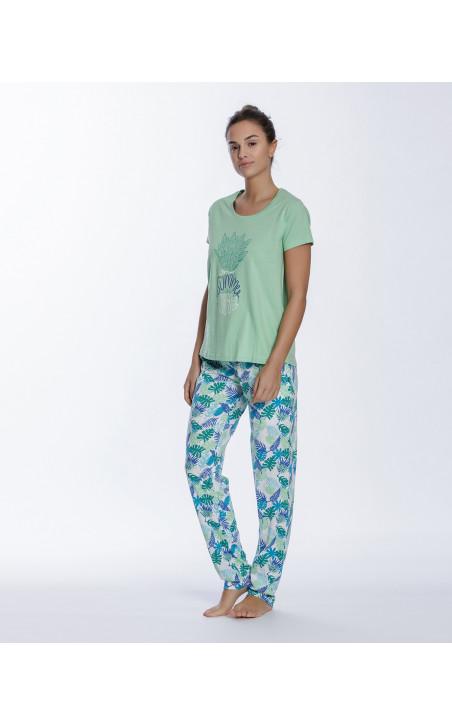 Conjunto de algodón, Tropical Color Verde - 1 - 2