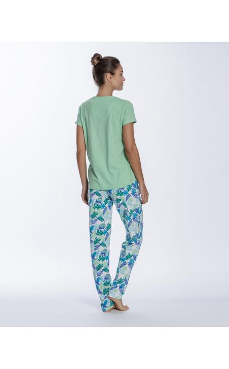 Conjunto de algodón, Tropical Color Verde - 1 - 2 - 3