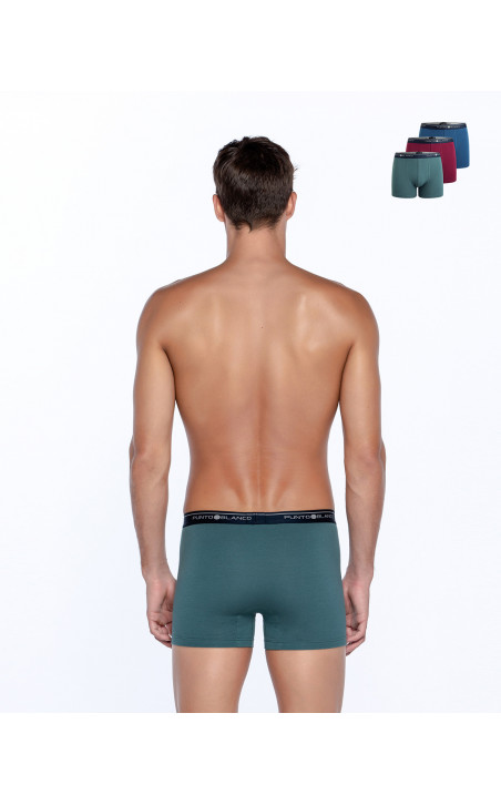 Three-pack Boxer Basix Color Assorted - 1 - 2 - 3 - 4 - 5 - 6 - 7 - 8 - 9 - 10 - 11 - 12