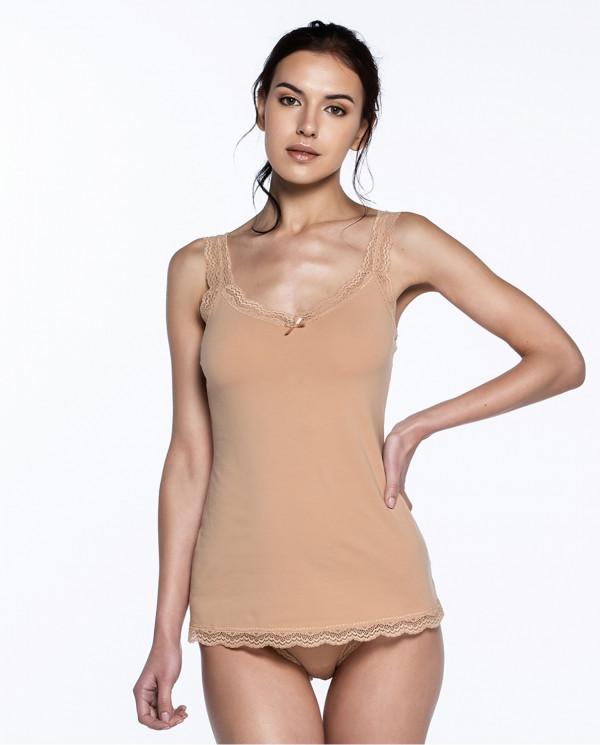 T-shirt sans manches, Sand Couleur Nude - 1