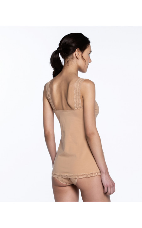T-shirt sans manches, Sand Couleur Nude - 1 - 2