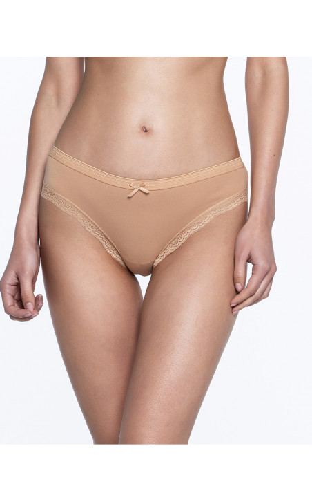 Pack de 3 briefs, Sand Couleur Nude - 1 - 2 - 3