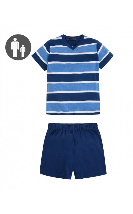 Striped short cotton, Equality Color Navy - 1