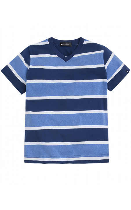 Striped short cotton, Equality Color Navy - 1 - 2