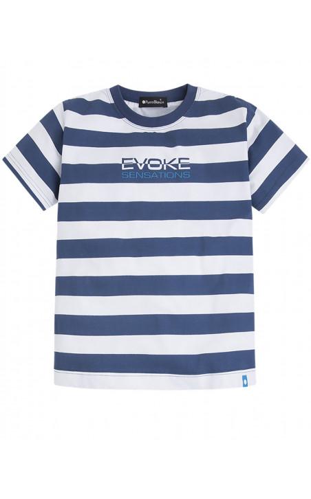 Ensemble de coton et rayures bleu marine, Evoke Couleur Bleu marine - 1 - 2