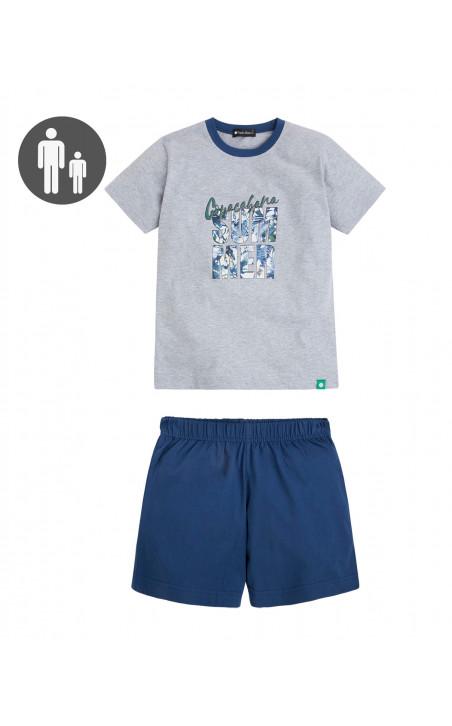 Short cotton set, Cities Color Blue - 1