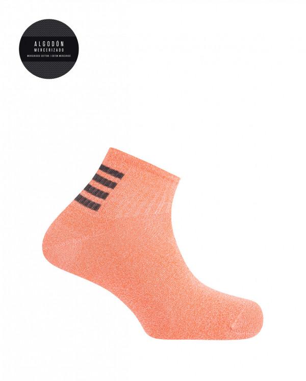 Cotton sport socks- stripes Color Pink - 1