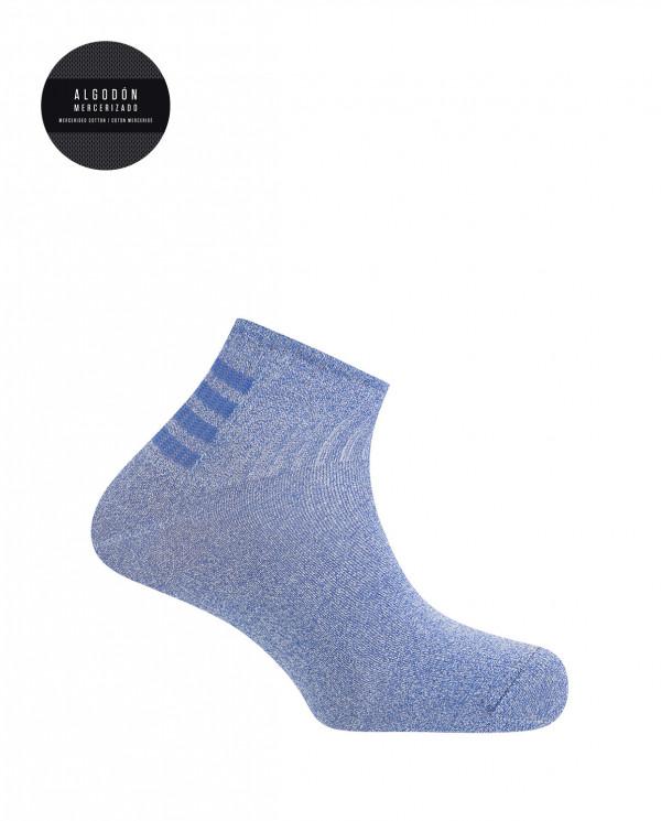 Cotton sport socks- stripes Color Blue - 1