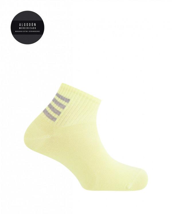 Cotton sport socks- stripes Color Yellow - 1