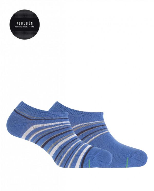 Pack de 2 calcetines de algodón deportivos - rayas Color Azul - 1