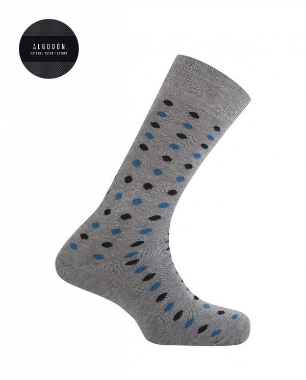 Calcetines de algodón - lunares Color Gris - 1