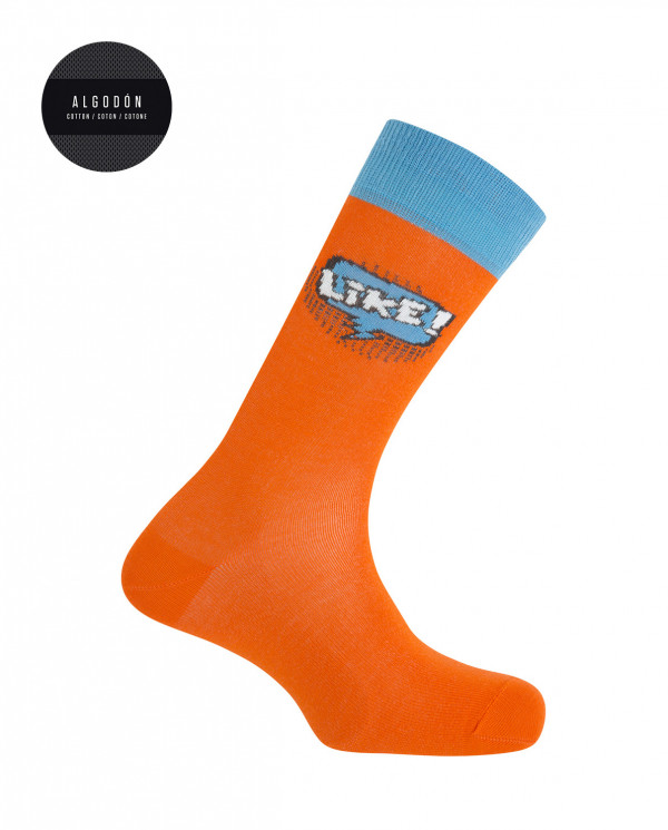 Chaussettes en coton - Like Collection Like Couleur Orange - 1