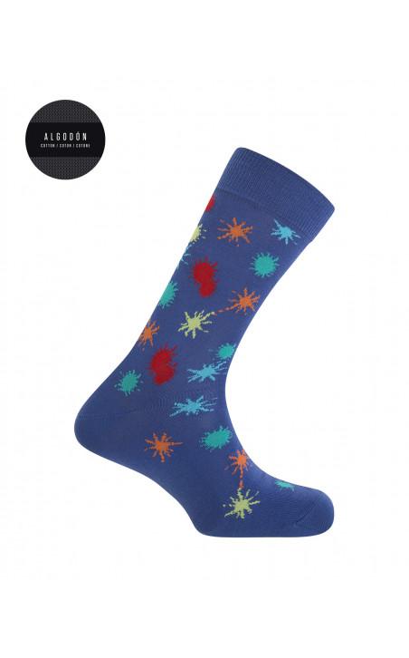 Coffret cadeau 3 paires chaussettes coton - Space Lovers Couleur Bleu - 1 - 2 - 3
