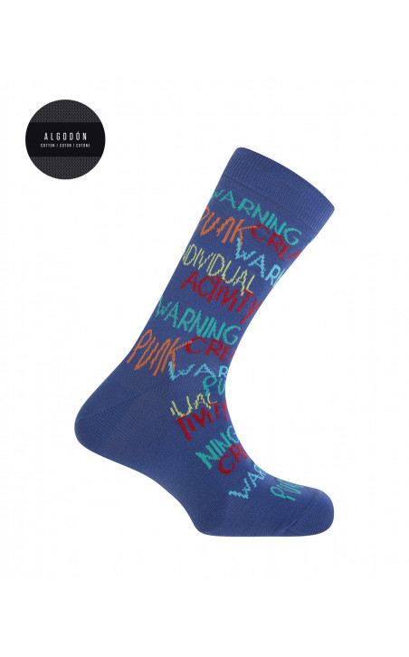 Gift box 3-pack cotton short socks - Space Lovers Color Blue - 1 - 2 - 3 - 4