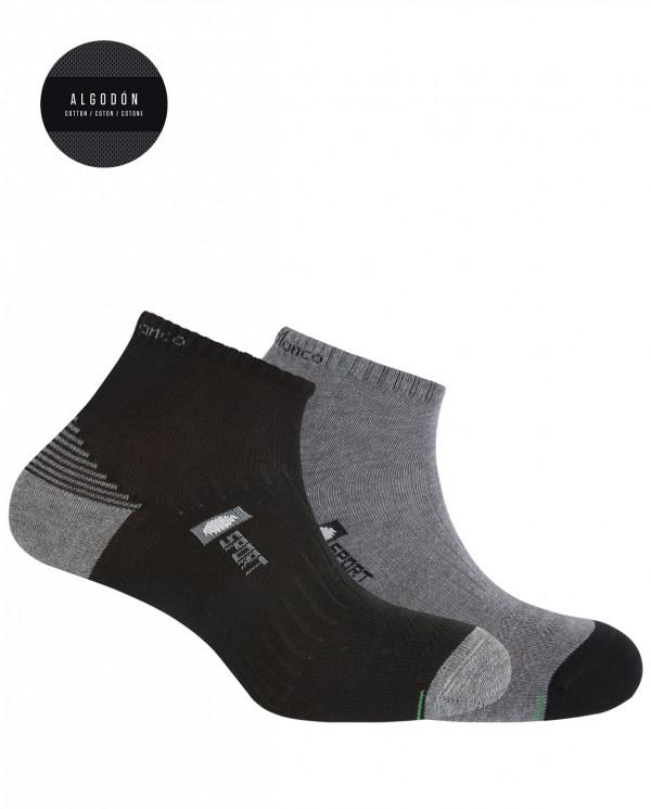 2 cotton sport socks - semi plain Color Assorted - 1
