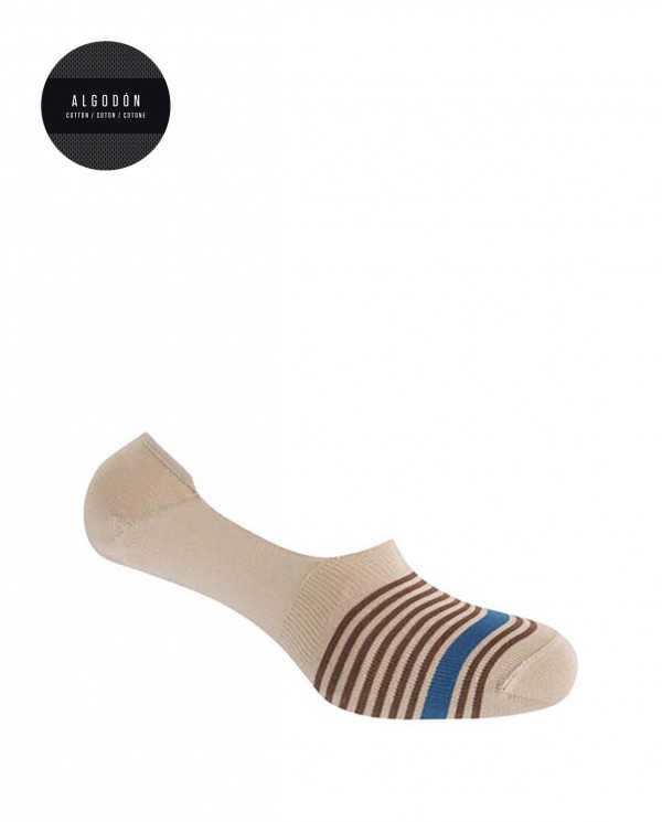 Calcetines invisibles - rayas Color Beige - 1