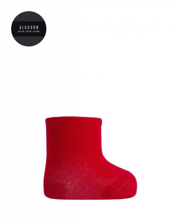 Mitjons 100% cotó merceritzat - llis Color Vermell - 1