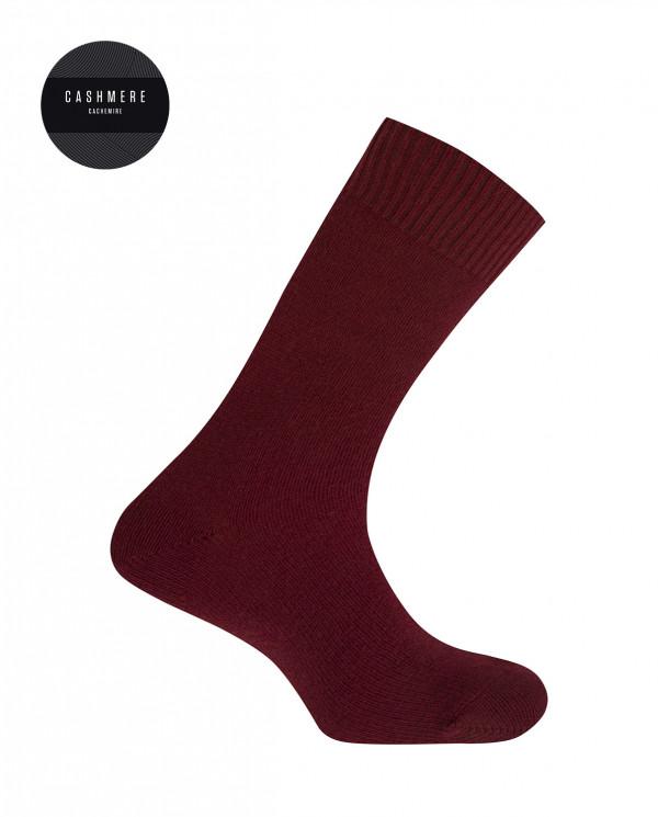 Calcetines de cashmere/lana - liso Color Granate - 1