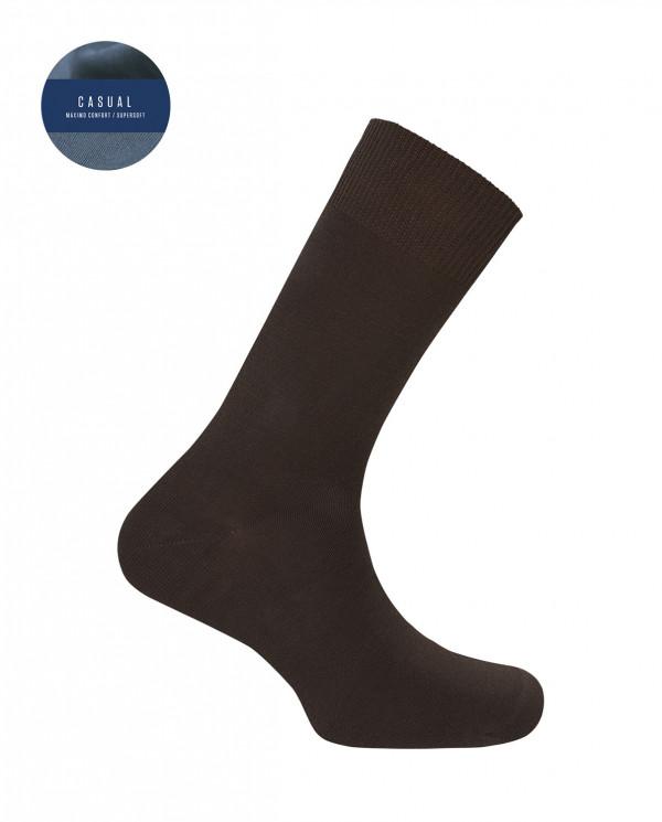 Chaussettes en orlon - unie Couleur Marron - 1