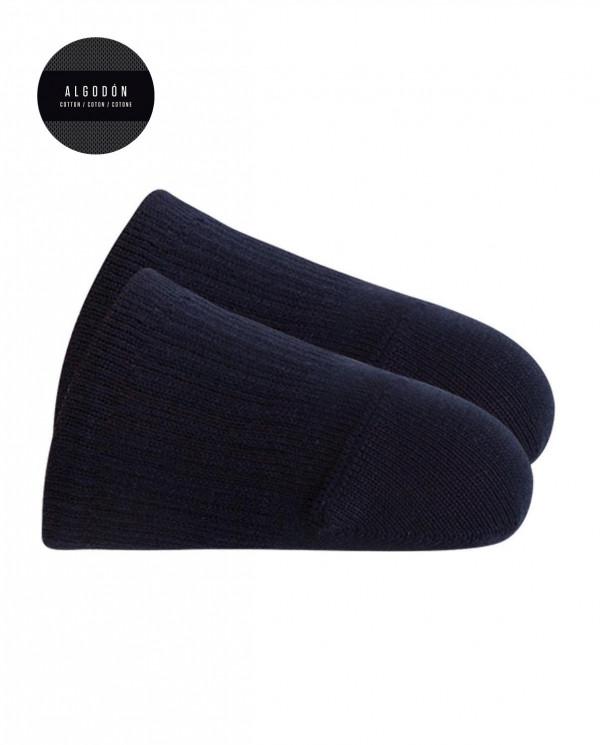 """Chaussettes """"pointes"""" en coton - unie Couleur Bleu marine - 1"""