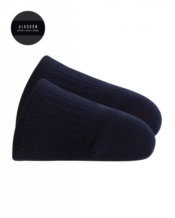 Punteras de algodón - liso Color Marino - 1