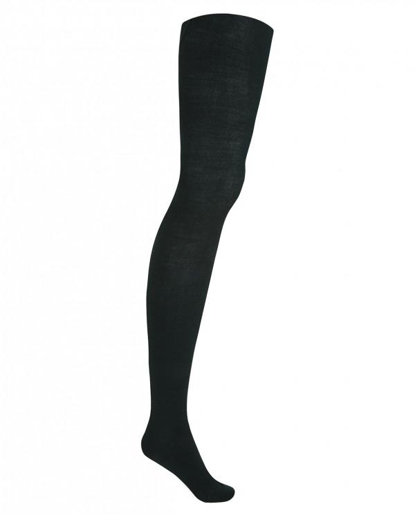 Orlon tights - plain Color Green - 1