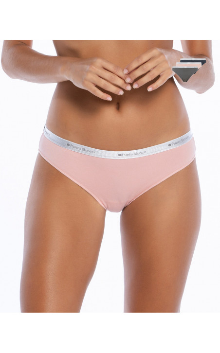 Pack of 3 Briefs of elastic cotton, Minimal Color Assorted - 1