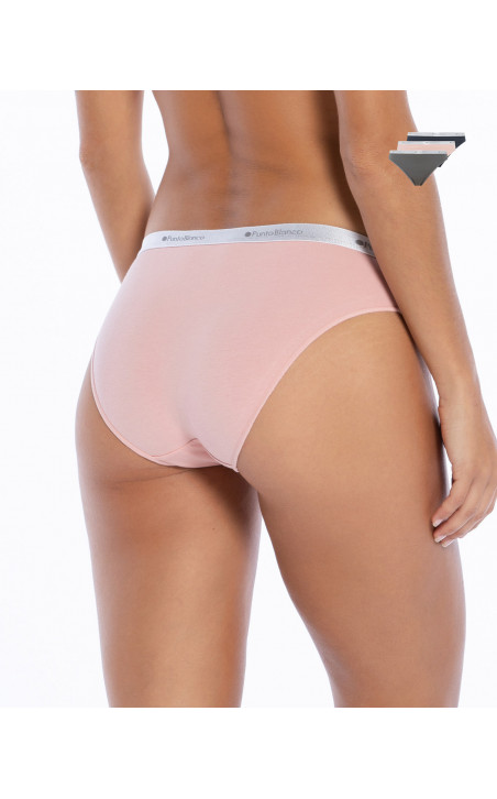 Pack of 3 Briefs of elastic cotton, Minimal Color Assorted - 1 - 2 - 3 - 4 - 5 - 6 - 7 - 8 - 9 - 10